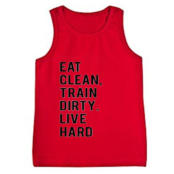 About eat clean train dirty live hard tanktop from teeshope.com This tank top is Made To Order, we print one by one so we can control the quality.
