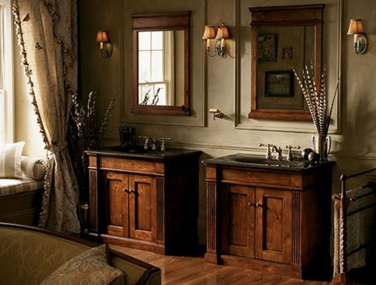 Rustic bathroom decorating idea awesome of rustic bathroom for Small old bathroom ideas