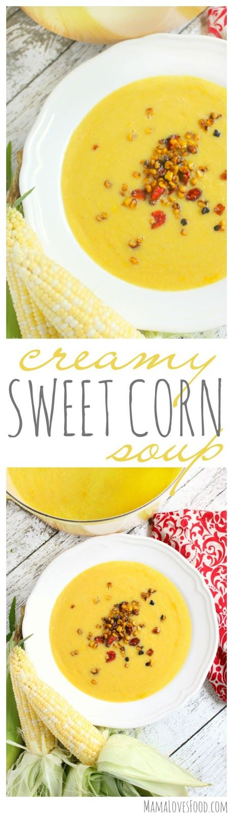 Creamy Sweet Corn Soup with Roasted Corn and Tomato Relish #ad #SwansonSummer
