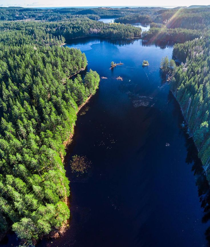 Aerial view of Tiveden Sweden