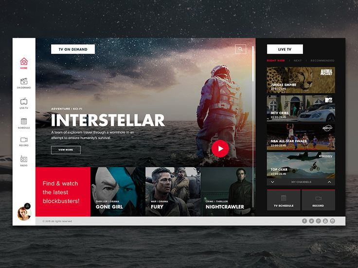 TV app interface