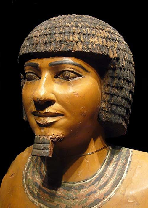 Imhotep, 2650–2600 BC, was one of the chief officials of Pharaoh Djoser. He is considered to be the  first architect and engineer and physician in early history, and he was one of the chief officials of Pharaoh Djoser. Egyptologists ascribe to him the design of the Pyramid of Djoser at Saqqara in Egypt in 2630 – 2611 BC. Before Djoser, pharaohs were buried in mastaba tombs. [Possibly known as Joseph of the Old Testament]