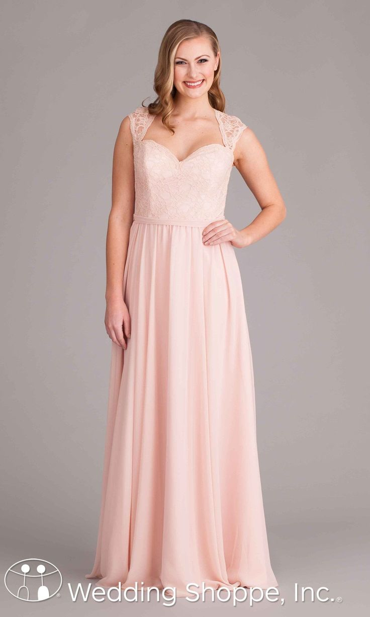 244 best bridesmaids dresses that dont suck images on pinterest long chiffon and lace bridesmaid dress in blush with cap sleeves ombrellifo Images