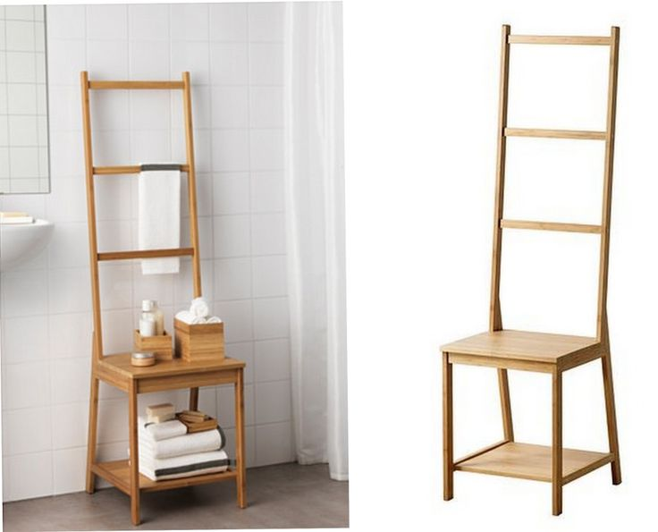 Ikea bamboo ragrund chair also includes a towel rack perfect for small spaces and it does - Towel racks for small spaces concept ...