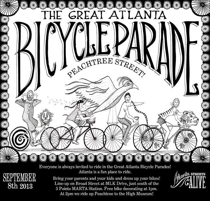 Great Atlanta Bicycle Parade September 8, 2013 Parades