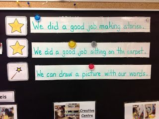 Our Kindergarten Journey: PicCollage and Daily Goals 2 stars and a wish