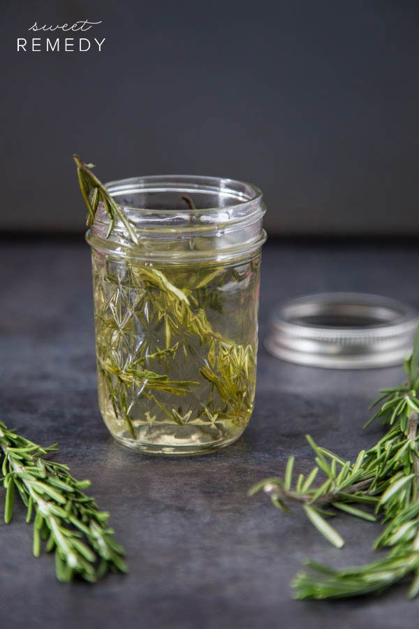 Rosemary infused simple syrup – great for baked goods, cocktails and even coffee or tea