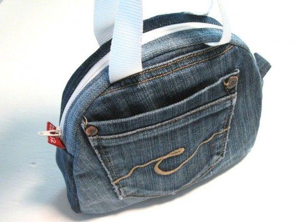 Aus alter Jeans mach neues Täschchen