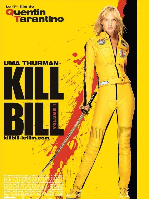 Kill Bill: Volume 1, de Quentin Tarantino (2003) avec Uma Thurman, Sonny Chiba. Synopsis : Au cours d'une cérémonie de mariage en plein désert, un commando fait irruption dans la chapelle et tire sur les convives. Laissée pour morte, la Mariée enceinte retrouve ses esprits après un coma de quatre ans et n'a alors plus qu'une seule idée en tête : venger la mort de ses proches