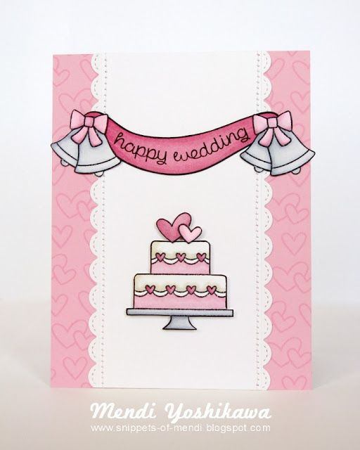 Snippets By Mendi: Lawn Fawn August Guest Designer ~ Happy Wedding Cards