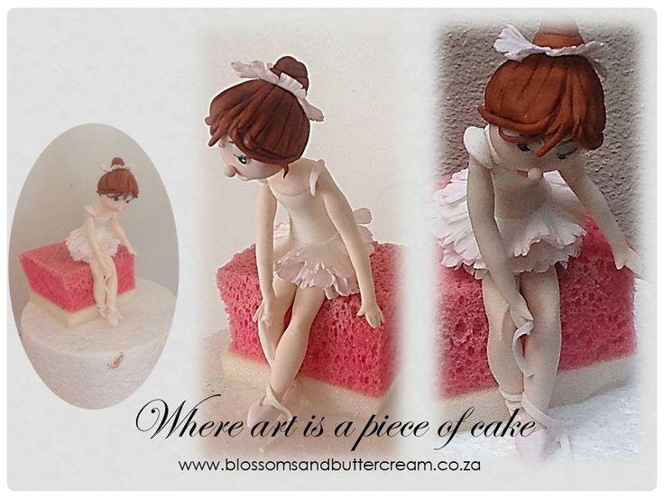 Fondant Ballerina.  Inspired by Carlos Lischetti