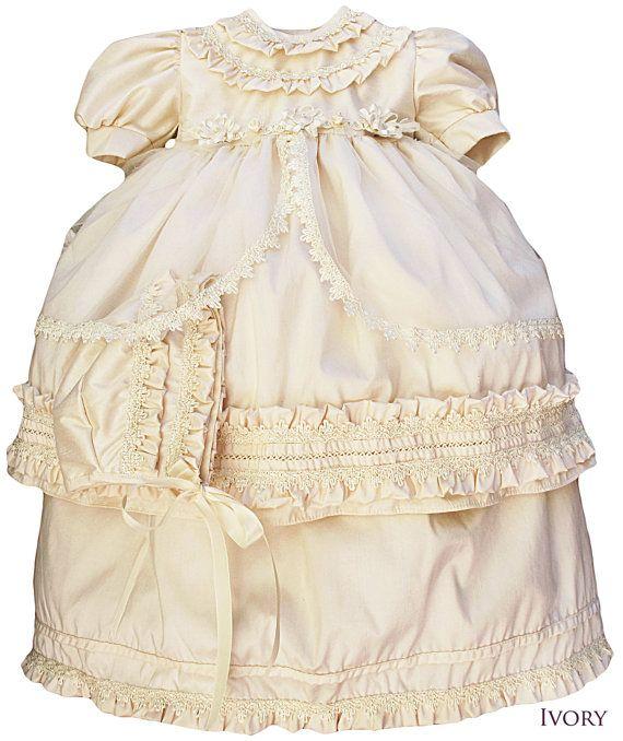 Beautiful baby girl dress G002. Christening or baptism by Burbvus