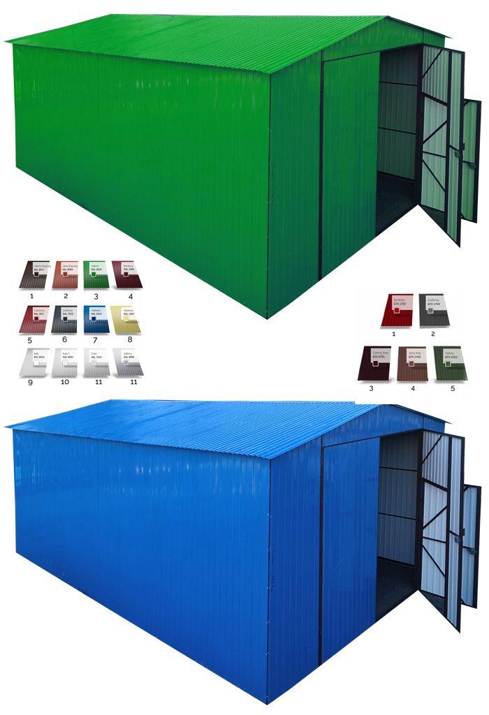 Garaz Blaszany Z Dachem Dwuspadowym Hale Wiaty 5x7 8469535493 Oficjalne Archiwum Allegro Outdoor Storage Outdoor Storage Box Poultry Equipment