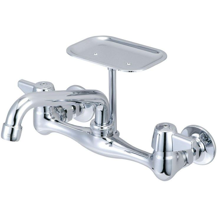 Central Brass 2 Handle Kitchen Faucet On 8 In. Centers In PVD Polished  Chrome