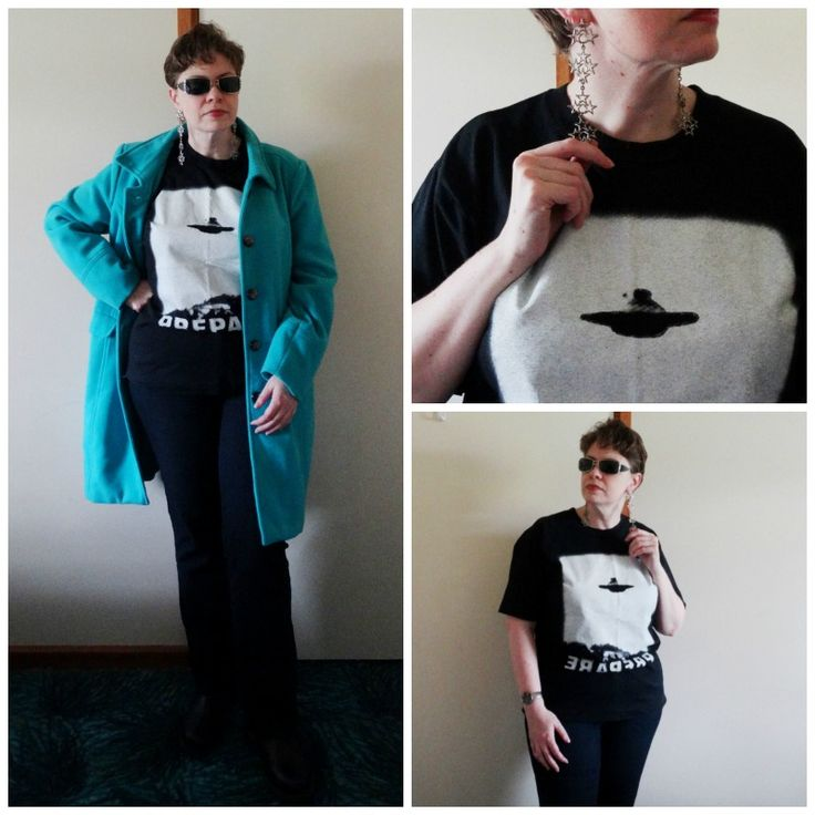 JDS - MY STYLE - X-Files tshirt and star earrings - more details on the blog - http://jeweldivasstyle.com/my-style-september-style/