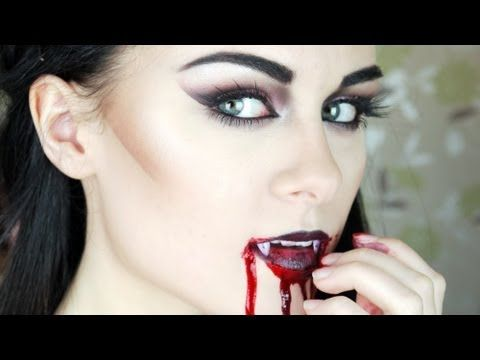 "Gothic Vampire Makeup Tutorial ""I'm going to try this for the upcoming Halloween!"""