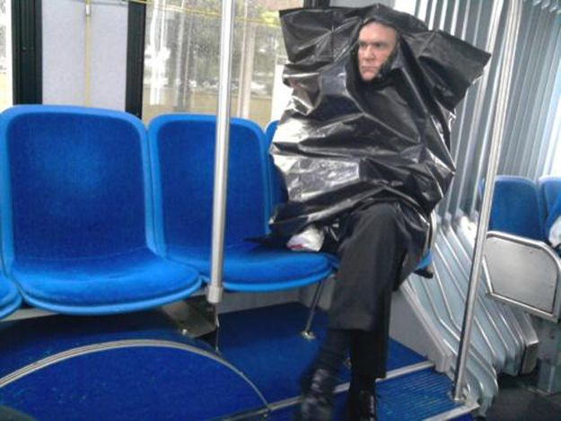 This guy riding the bus. | 41 People You Won't Believe Actually Exist