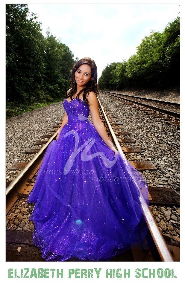 Prom dress senior picture
