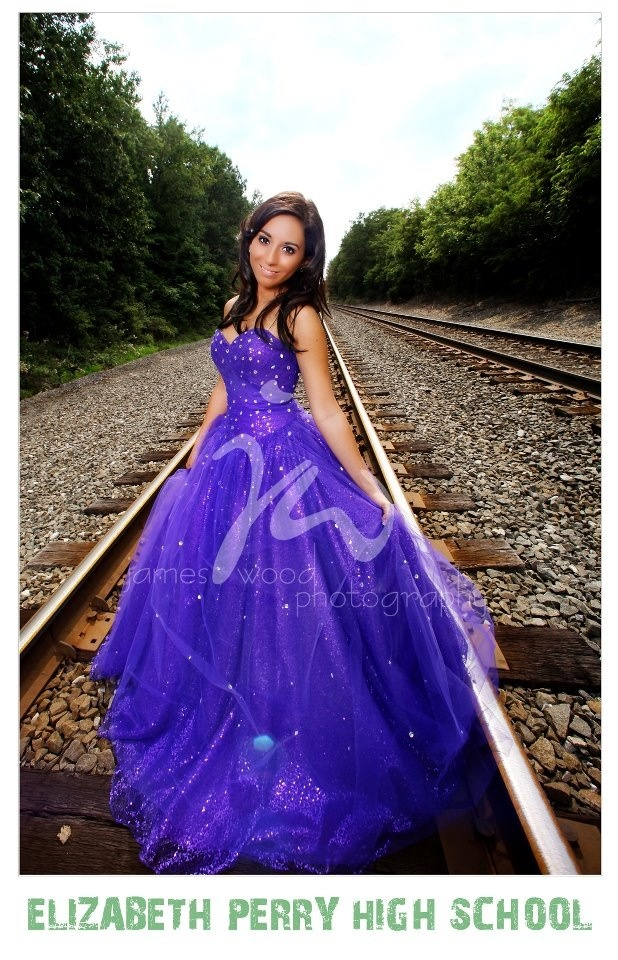 Prom dress senior picture