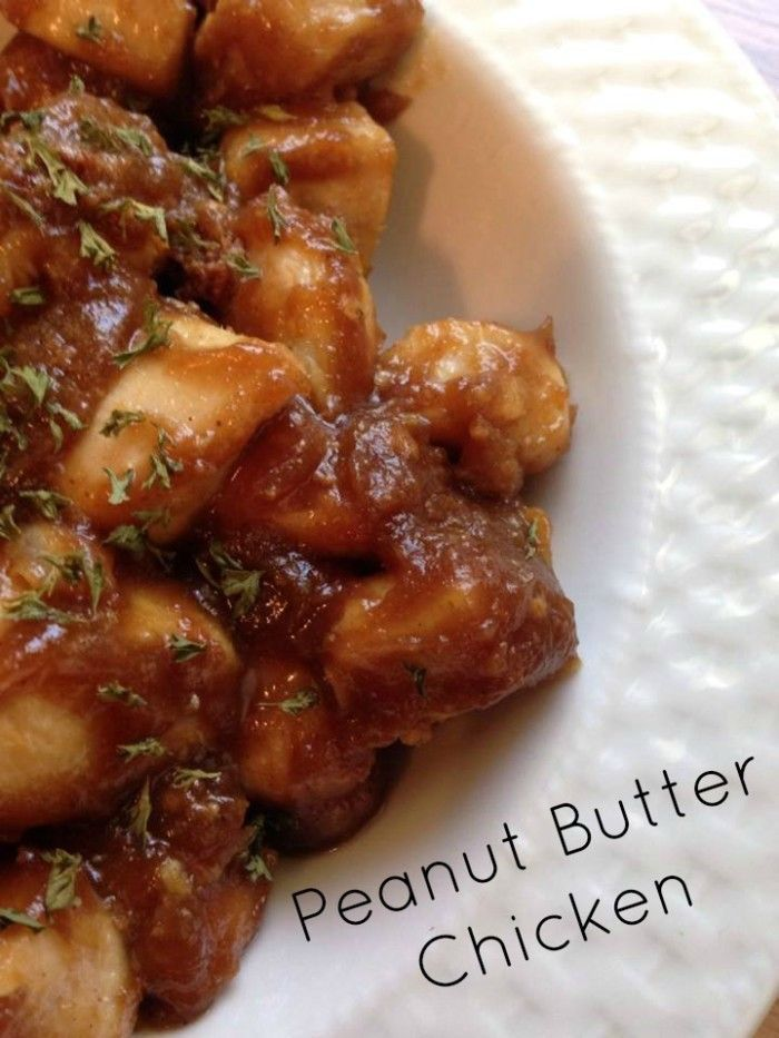 Quick & Easy Peanut Butter Chicken - Recipe via @mommalewsblog