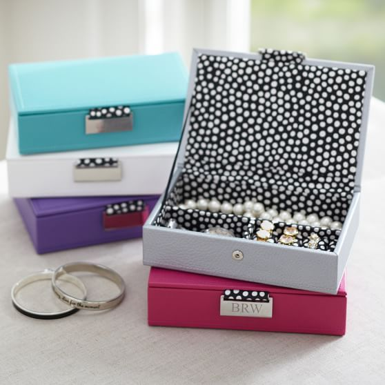 Classic Leather Small Jewelry Box | PBteen