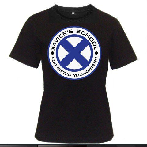 X-Men Xavier's School Logo Wolverine Magnito Superheroes Women Black T-Shirt Size S to 3XL