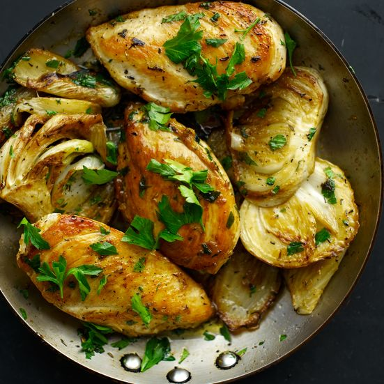 garlic, and rosemary are perfect with chicken. The fennel and chicken ...