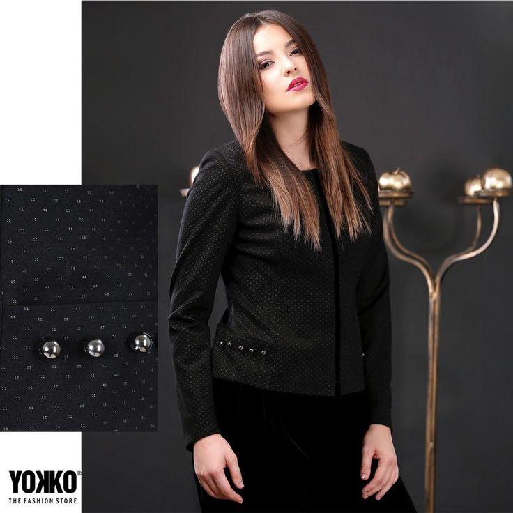 Autumn mood   YOKKO |fall16 #jackets #jersey #dots #black #fall16