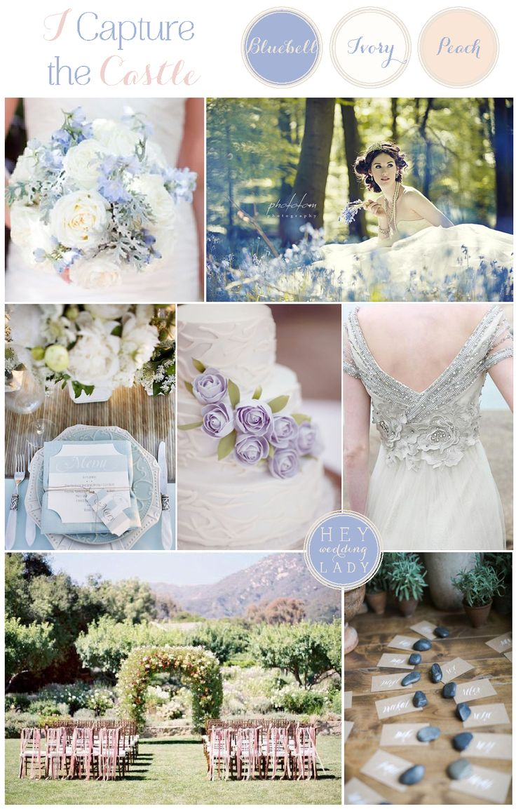 Bluebell Woods – Blue, Ivory, and Peach I Capture the Castle Wedding Inspiration from Hey Wedding Lady