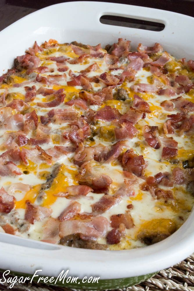 Bacon Cheeseburger Cauliflower Casserole food recipe food ideas recipes casserole food recipes foodie food recipe ideas