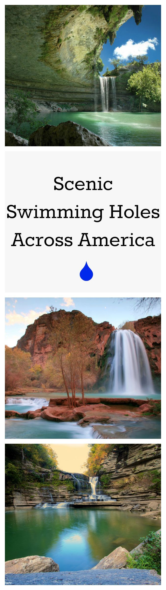 Long summer days call for a cooling dip in these natural swimming holes across America.