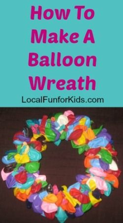 how to make a birthday balloon wreath home easy fun