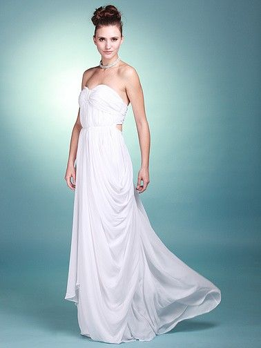 Sweetheart Empire Waist Reception Gown with Backless Detail