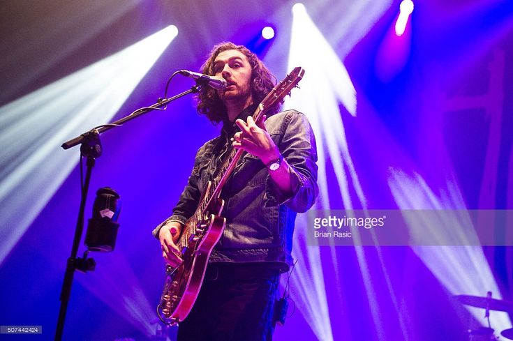 Hozier performs at Brixton Academy on January 29, 2016 in London, England.  (Photo by Brian Rasic/WireImage)