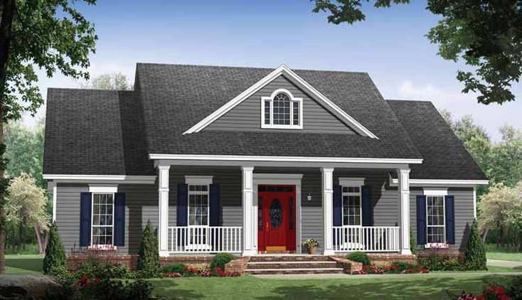 Eplans Country House Plan - Small Country Home with Large Porches - 1640 Square Feet and 3 Bedrooms(s) from Eplans - House Plan Code HWEPL69623