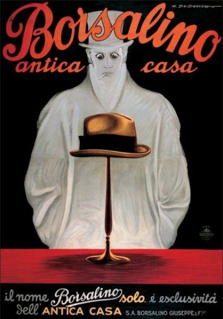 Vintage Italian Posters ~ #illustrator #Italian #vintage #posters ~ Borsalino