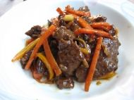 Ginger Beef with Carrots and Peppers recipe