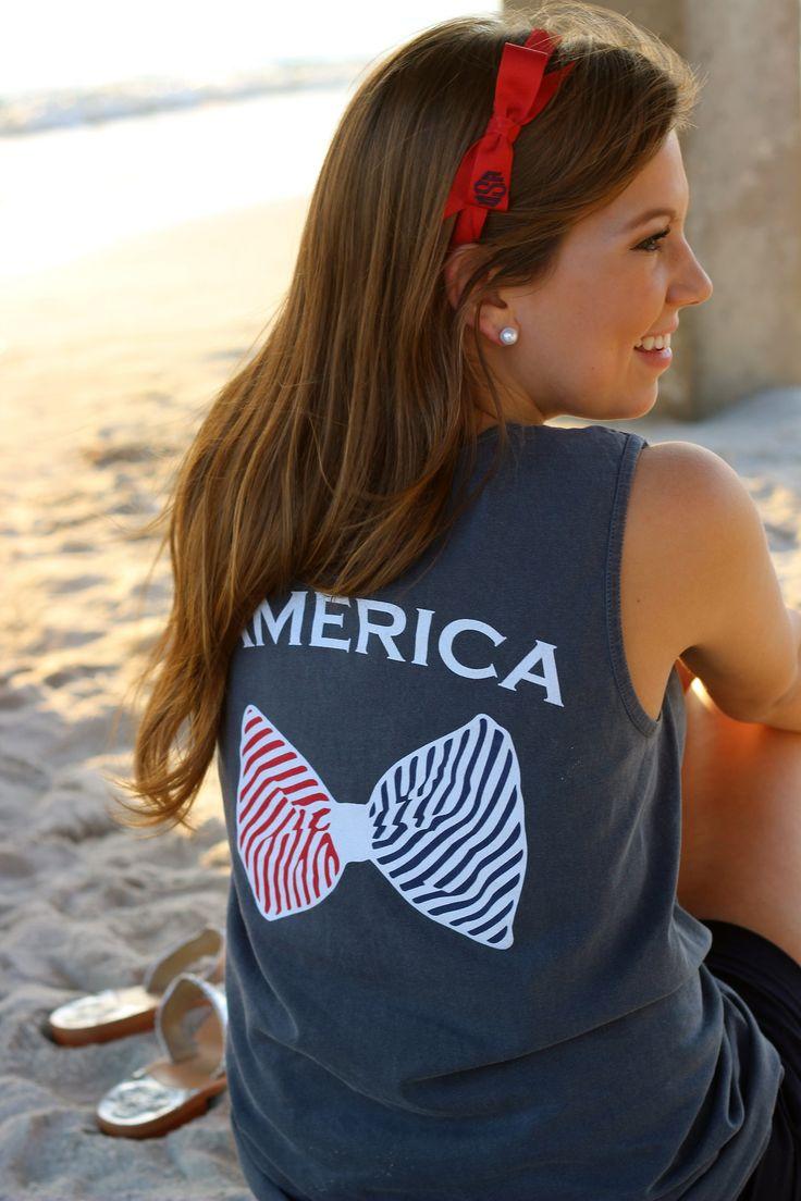 devonalanadesign:  America Tank Top #prep #preppy #style