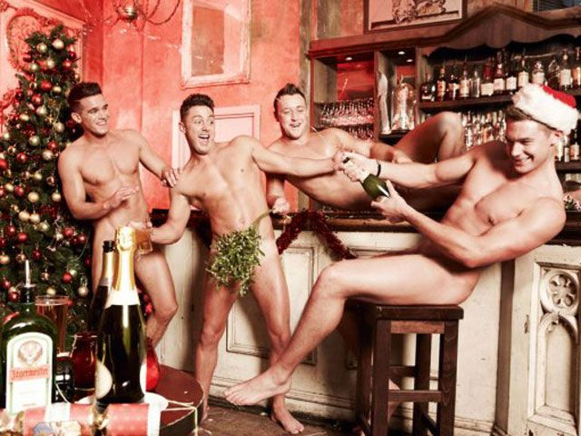 Geordie Shore Lads Cheeky Christmas Pic