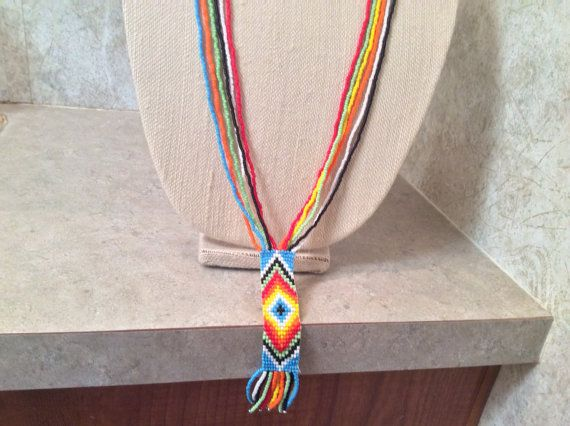 Gorgeous 30 inch long handmade Native by AnnesBeadedJewelry