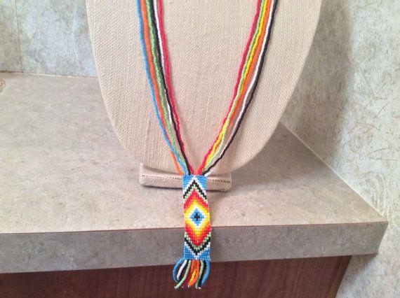 Gorgeous 30 inch long handmade Native by AnnesBeadedJewelry