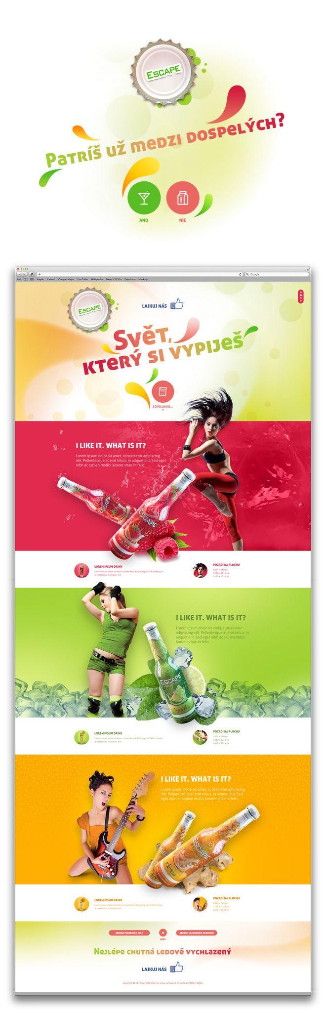 Escape drink | Art4web | Kreatívna internetová agentúra | Tvorba webstránok, Grafický design, Copywriting, SEO