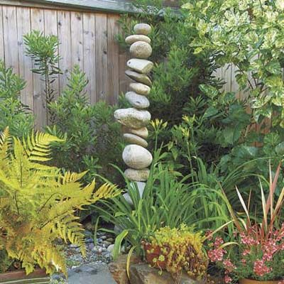 stacked stone totem pole garden accessory: Garden Ideas, This Old House, Garden Art, Old Houses, Gardens, Stones, Stone Sculpture