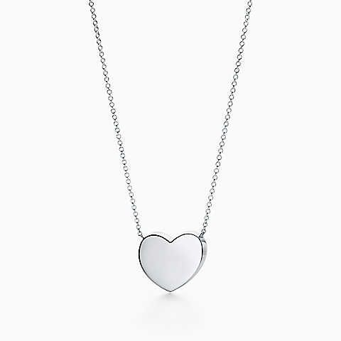 Paloma Picasso® Modern Heart pendant in sterling silver.