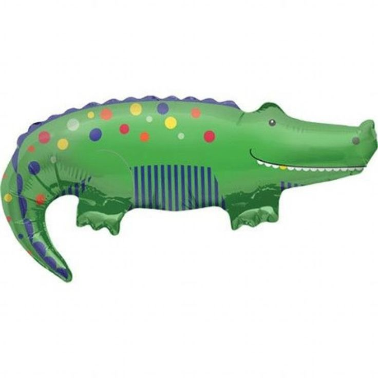 Cute Crocodile Foil Balloon available online at Little Boo-Teek! Boutique designer party supplies online! Express Shipping Australia Wide