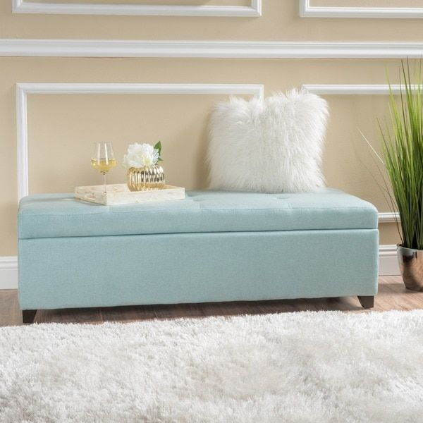 London Fabric Storage Ottoman Bench by Christopher Knight Home | Overstock.com Shopping - The Best Deals on Ottomans