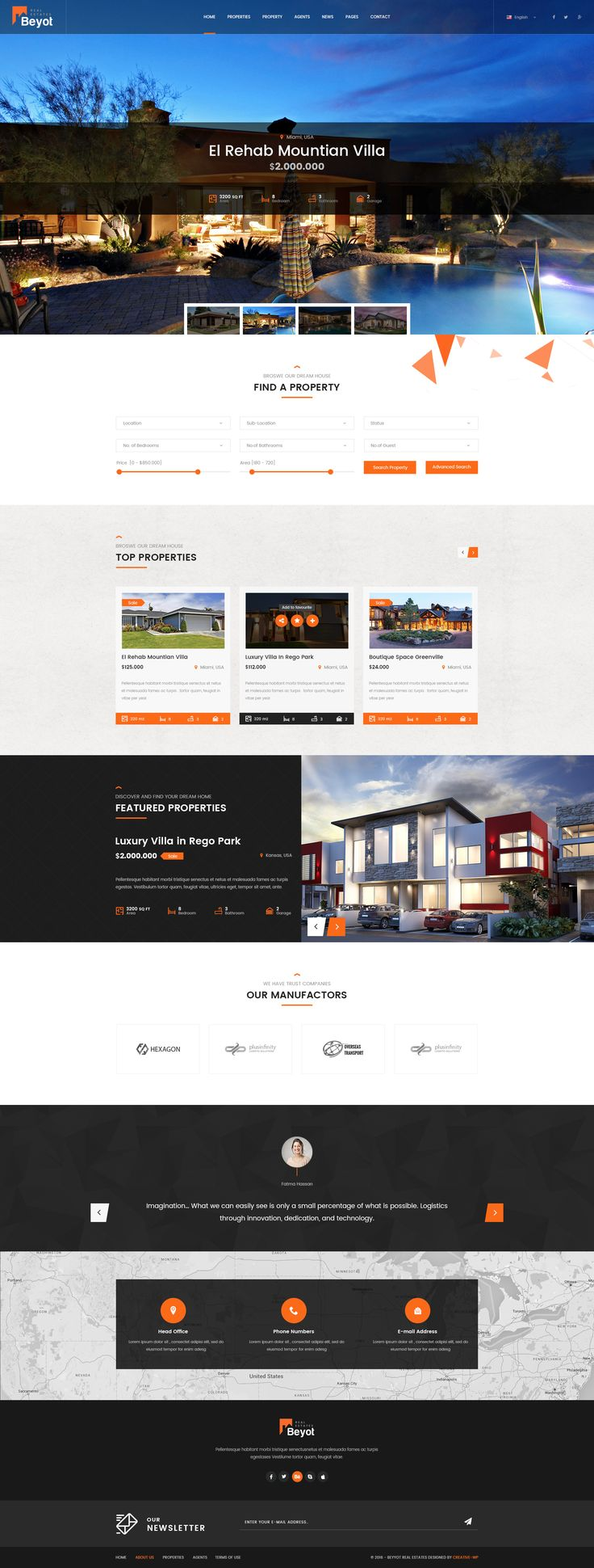Beyot – Real Estate PSD Template #Real, #Beyot, #Estate, #Template
