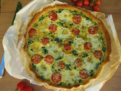 O Bolinho de Sábado: Tarte de Espinafres com Tomate & Mozzarella
