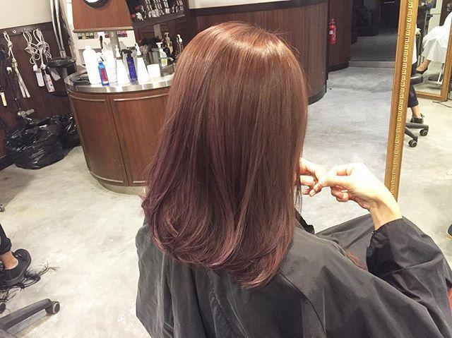 Pinkish brown Ash brown add stripes highlights ********** CLEO hair…