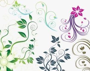 Flowers and Swirls 2 Photoshop brush